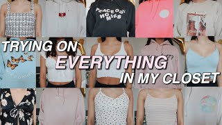 Trying On Everything In My Closet (where I Get All Of My Clothes!)