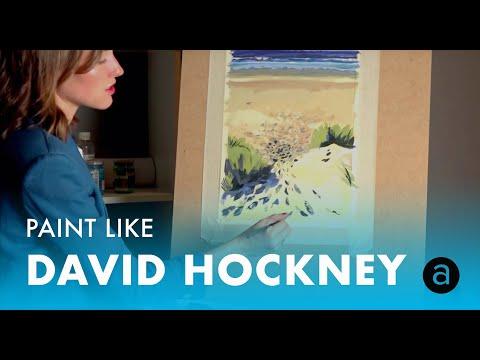 Онлайн мастер-класс живописи в стиле David Hockney | Мария Покровская