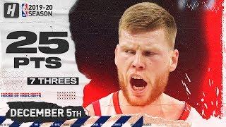 Davis Bertans 25 Pts 7 Threes Full Highlights   76ers vs Wizards   December 5, 2019