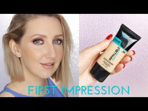HOLY GRAIL FOUNDATION FOR OILY SKIN? L'Oreal Infallible Pro Glow Foundation Review   Sharon Farrell