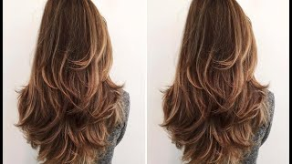How To: Easy Long Layered Haircut Tutorial - Layer Cutting Technique