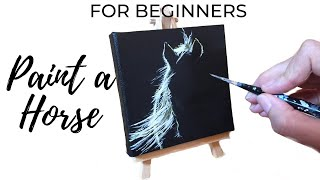 How To Paint A Horse For Beginners / Acrylic Time Lapse Painting