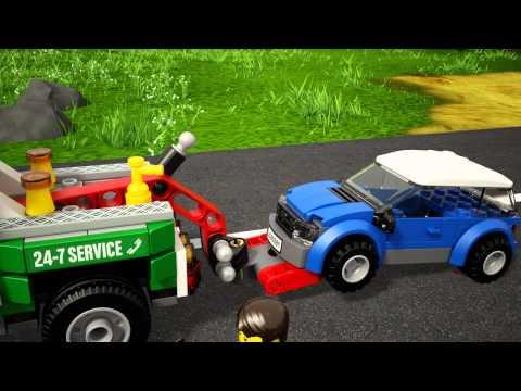 Vidéo LEGO City 60081 : Le pick-up dépanneuse