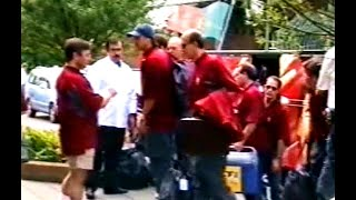 Aankomst Portugees elftal bij Hotel Bosch en Ven, 2000
