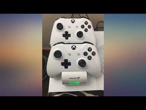 Fosmon Xbox One//One X//One S//One Elite Dual Controller Charger, [Dual Slot] High Speed D