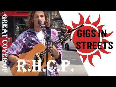 Red Hot Chili Peppers, Snow (Hey Oh) cover - busking in the streets of London, UK