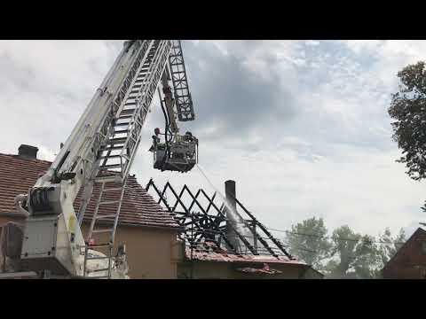 Wideo1: Pożar świetlicy w Ligocie