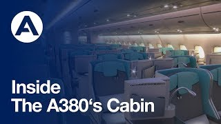 Inside the A380's cabin