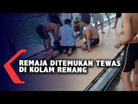 remaja ditemukan tewas di kolam renang