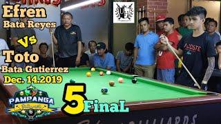 5/5 REMATCH EFREN BATA REYES VS TOTO BATA GUTIERREZ DEC,14,2019@University hills Lounge,Monumento