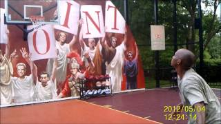 preview picture of video 'Perfect 3 point challenge 15 pts. Busch Gardens Williamsburg 12 for 12 shootout 5/4/12'