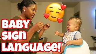 I'M TEACHING MY 6 MONTH OLD BABY SIGN LANGUAGE | DAY IN THE LIFE | VLOGMAS 2019 DAY 6