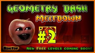 Midget Apple Plays - Geometry Dash Meltdown #2: KICKING BUTTS!!!