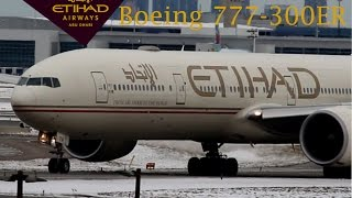 Etihad Boeing 777-300ER Taking Off Runway 23 at Toronto Pearson on New Years