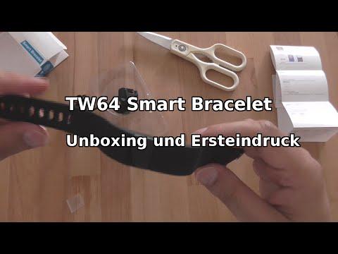 TW64 Bluetooth Smart Bracelet | Unboxing Ersteindruck |