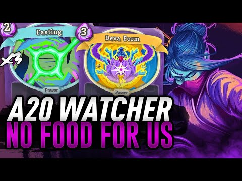 NO FOOD FOR US! | Ascension 20 Watcher Run | Slay the Spire