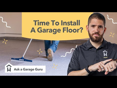 When is the best time to install a garage floor coating?