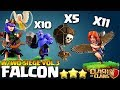 How to FALCON - W/Wo Siege TH10 Attack Strategy for 3 Stars | Th10 QueenWalk Falcon | Th10 Best Coc