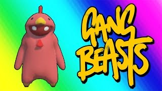Gang Beasts Funny Moments - Red Chicken Fighting Champion!