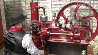 Ruston Hornsby Gas (oil) Engine startup