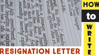"""Resignation letter """"How to write formal resignation letter""""Learn to write resignation letter"""