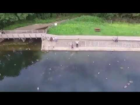 When your drone runs out of battery over a lake