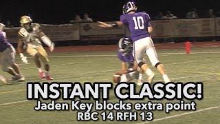 Red Bank Catholic 14 Rumson-Fair Haven 13 | Instant Classic! | Jaden Key blocked XP
