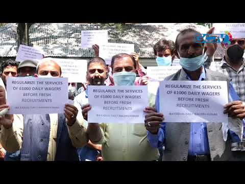 PHE casual employees hold protest, demand regularisation