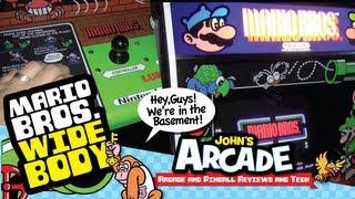 Nintendo Mario Bros. Arcade Game Review - Original dedicated WIDE BODY cabinet - 1983