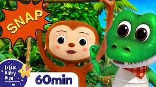 Five Little Monkeys | 1 Hour of Nursery Rhymes & Kids Songs | Little Baby Bum