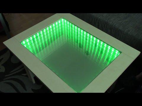 DIY Infinity Spiegel Tisch