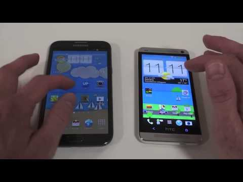 Htc One vs Samsung Galaxy Note 2