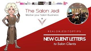 New Client Letters to Salon Clients