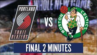 CELTICS vs TRAIL BLAZERS - FINAL 2 MINUTES | 2019-20 NBA Season