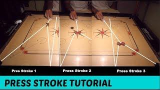 Carrom Press Stroke Tutorial | Strike & Pocket |