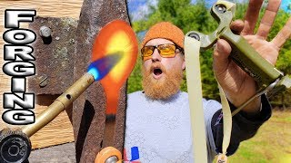 Forging A Spoon With A Slingshot, The SimpleShot Hammer (Trick Shot Tuesday Ep. #6)