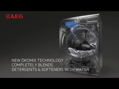 AEG Freestanding Washing Machine L8FEC966CA - White Video 2