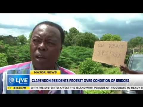 Clarendon residents protest over the condition of bridges