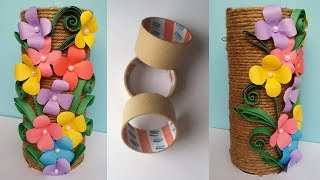 How To Make Best Out Of Waste Flower Vase Jute Twine