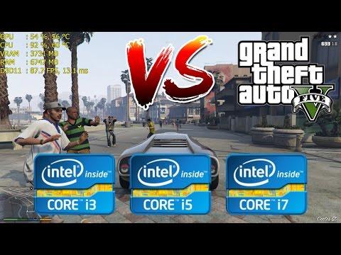 Intel Core i3 vs i5 vs i7   GTA V / 5 – Gaming Performance