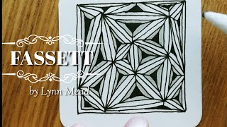 How To Draw Tangle Pattern Fassett