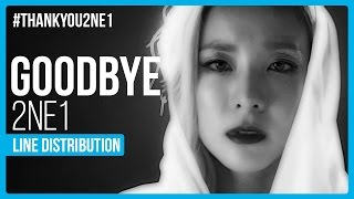 2NE1 - Goodbye (안녕) Line Distribution (Color Coded) | Thank You 2NE1