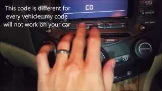 How to Unlock Radio in Honda Accord With Code - EP #14