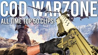 Call of Duty Warzone Reacting to the TOP 50 Clips of ALL TIME!