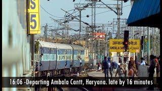 DHURI - AMBALA - NEW DELHI TRAIN JOURNEY   Indian Railways