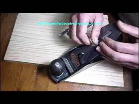 Reparar cepillo de carpintero con mango roto