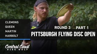 2020 Pittsburgh Flying Disc Open - Round 3 Part 1 - Clemons, Queen, Martin, Harbolt
