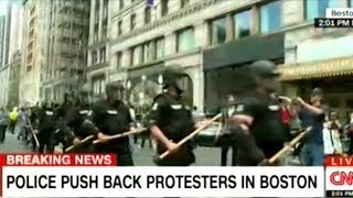"""""""Unity And Peace"""" Protesters Clash With Police In Boston!"""