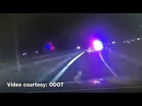 Officer Attacked By Coyote: 1/16/20  **Ohio Dept. of Transportation video**