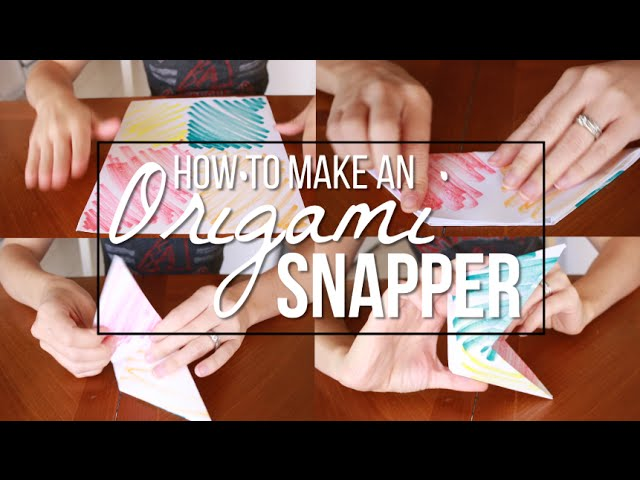 How To Fold An Origami Snapper Puppet | PapercraftSquare.com | 480x640